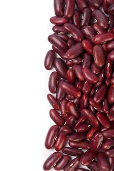 白で隔離される小豆
