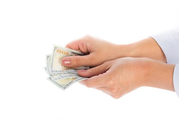 手の中のお金