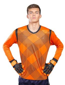 プロのサッカー選手の肖像