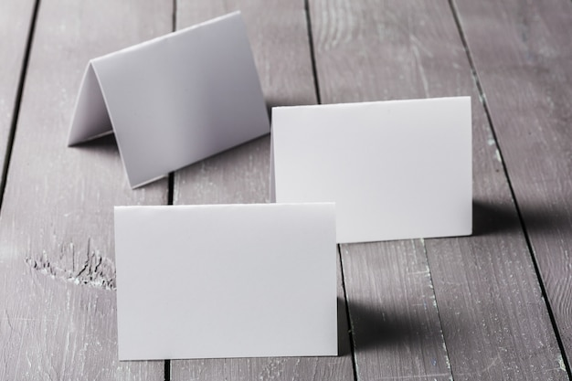 Пустой макет визитки