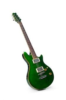 白で隔離のエレクトリックギター