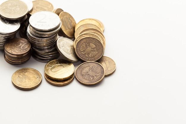白で隔離のコイン