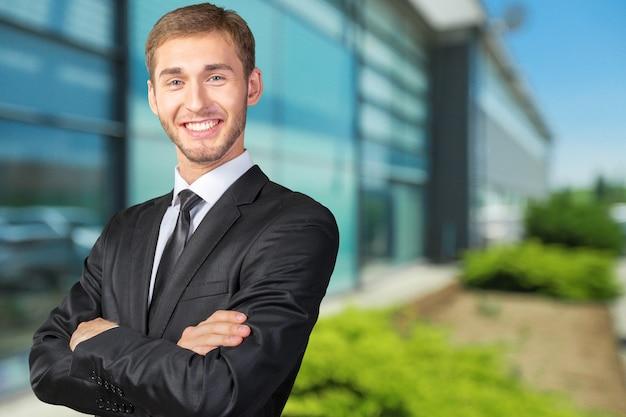 Счастливый умный деловой человек