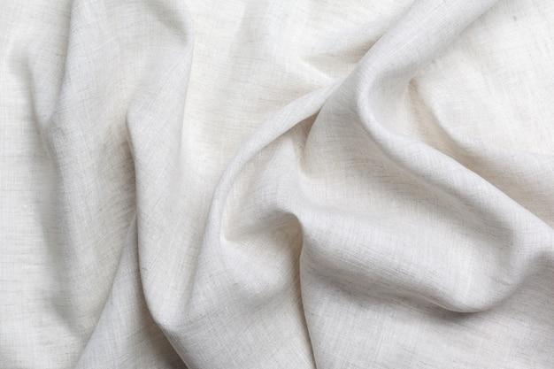 白いリネンキャンバスのテクスチャ背景