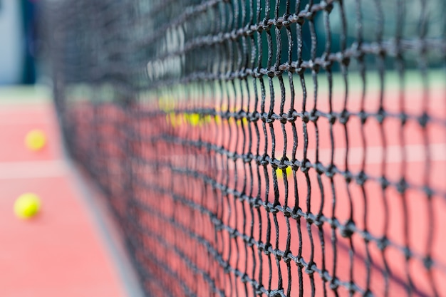 テニスコートのテニスネット