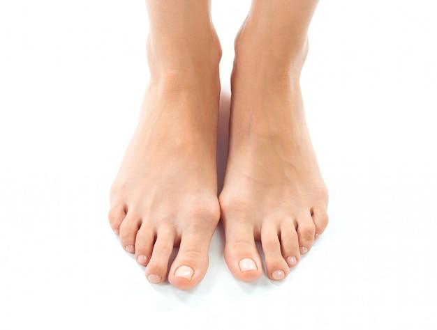 美しい女性の足の絶縁
