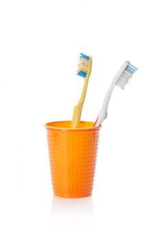 分離された歯ブラシ