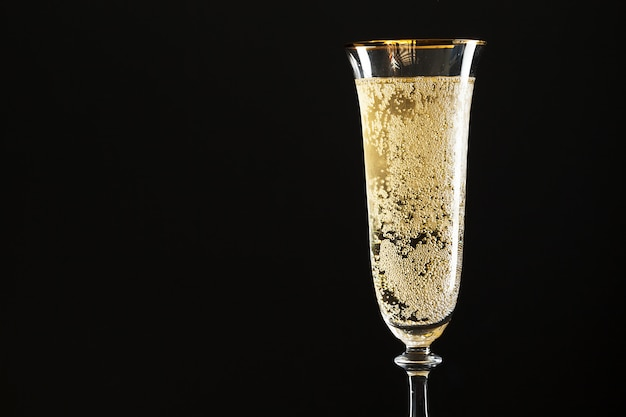 シャンパンのグラス