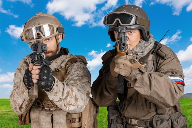 制服を着た兵士