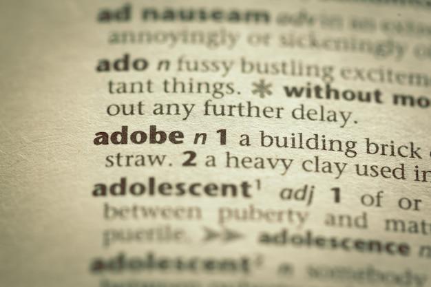 単語の辞書定義
