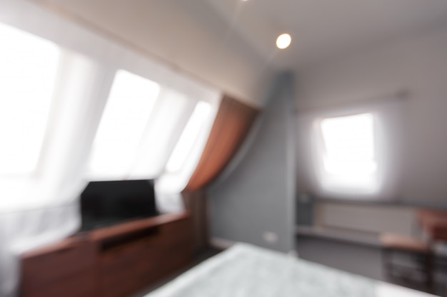 Размытие изображения современной комнаты дома