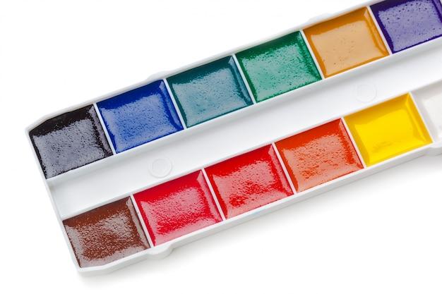水彩絵の具のセット