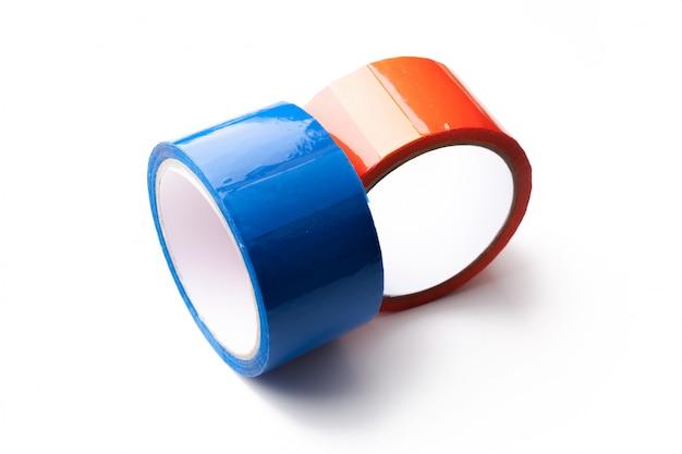 大きなロールの色付きテープ