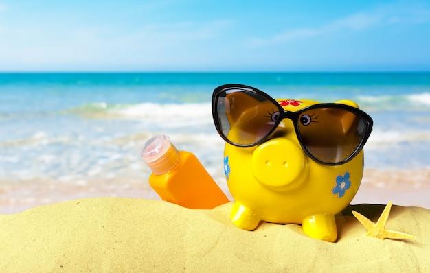 夏の貯金箱