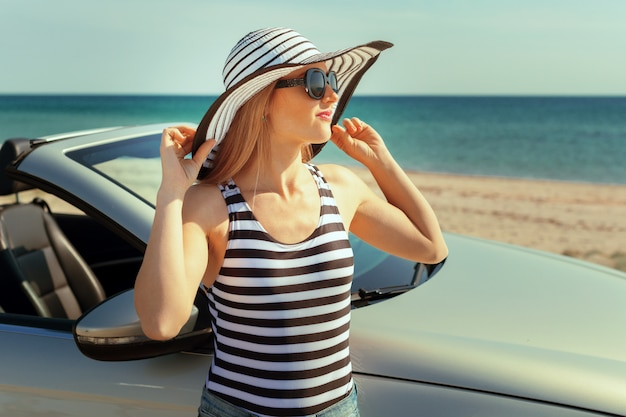夏の車旅行休暇