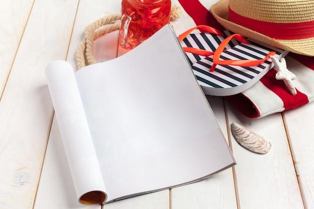 日記の夏のビーチでの休暇を書く