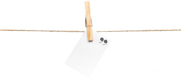 ロープ上のカード、コピースペース