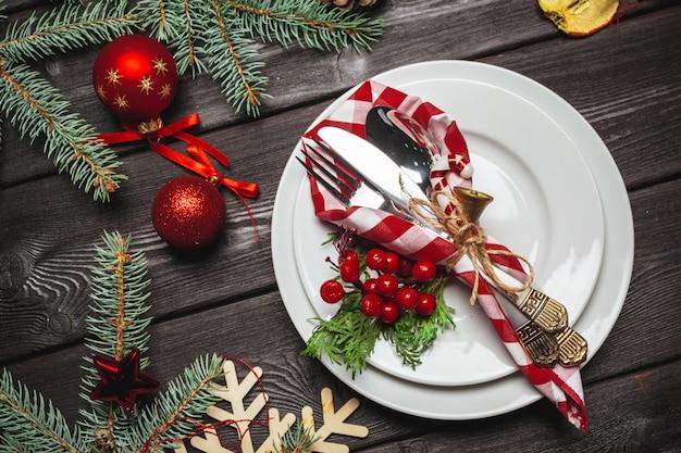 クリスマステーブルの場所の設定