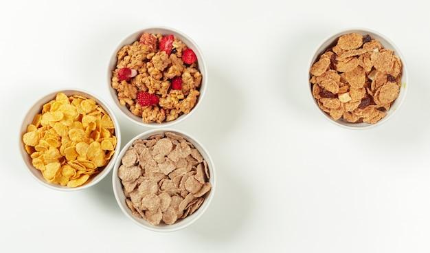 健康的な食事の朝食の材料