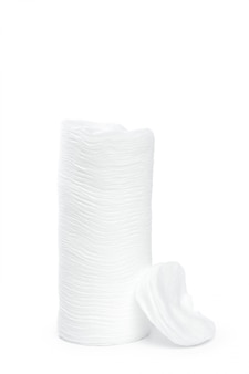 白い背景で隔離の綿スポンジ