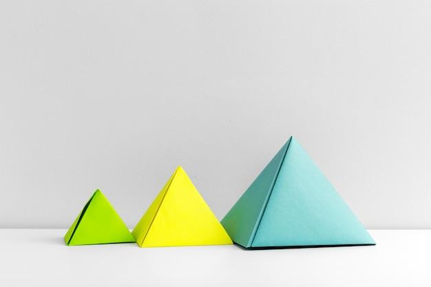 Абстрактный красочный геометрический фон крупным планом мягкий фокус