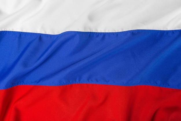 Крупным планом выстрел из волнистого флага россии