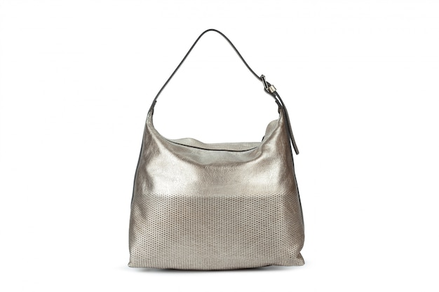 白で容量の大きい女性のハンドバッグ