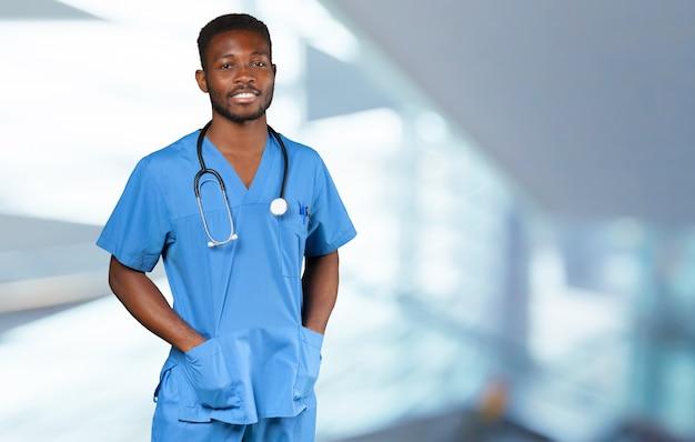 アフリカの医師の肖像画