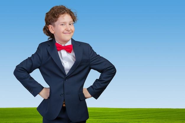 子供のビジネスマンの肖像画