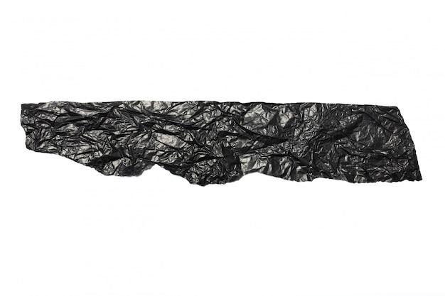 黒いしわくちゃの紙