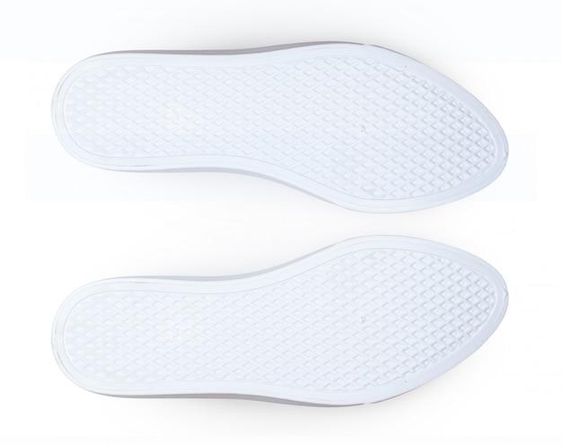 白い背景で隔離の靴の底