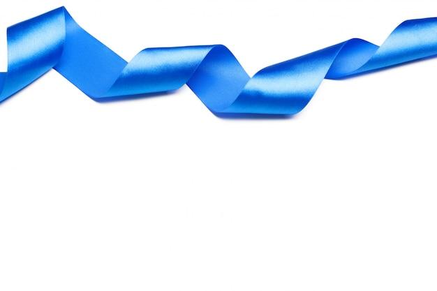 Синяя атласная лента