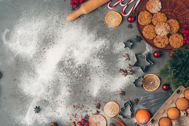 クリスマス菓子料理、クリスマス料理のお祭りのコンセプト