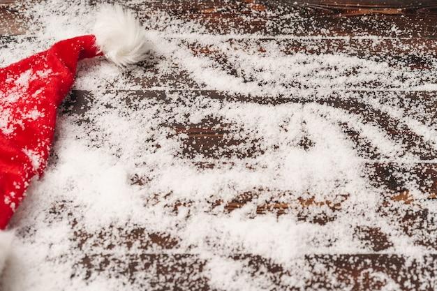 雪、コピースペースでクリスマス休暇