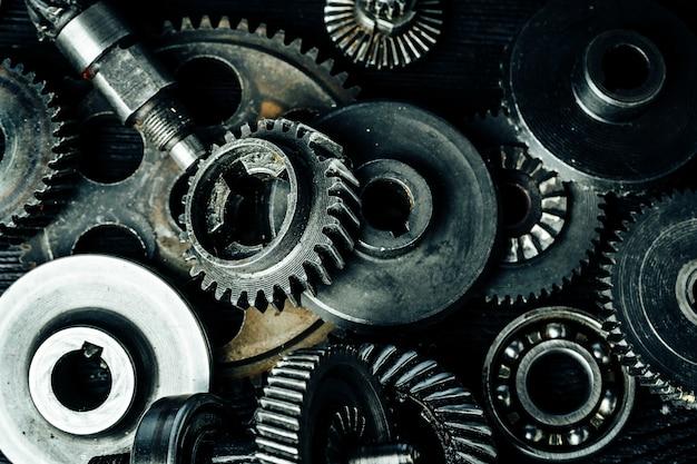 古い産業機械の歯車