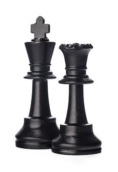 Черная шахматная фигура на белом
