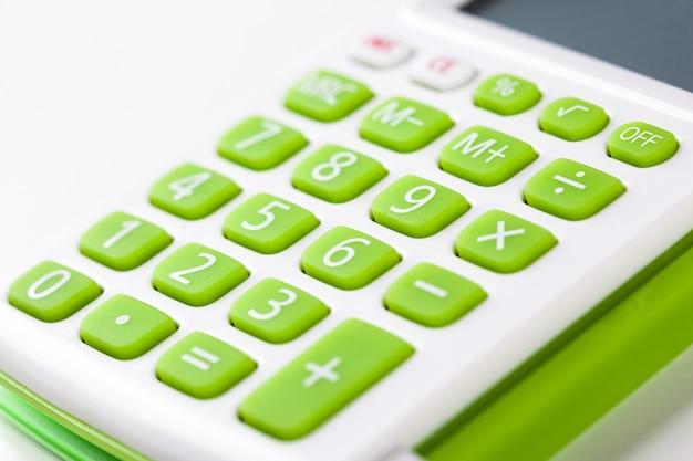 電卓キーボードのクローズアップ画像