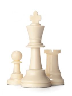 Белая шахматная фигура на белом