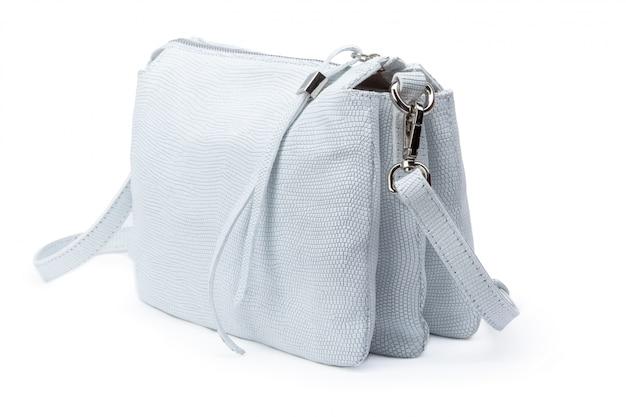 白で隔離される女性のファッションクロスボディバッグ
