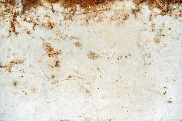 汚れた古いさびたグランジホワイトメタル背景