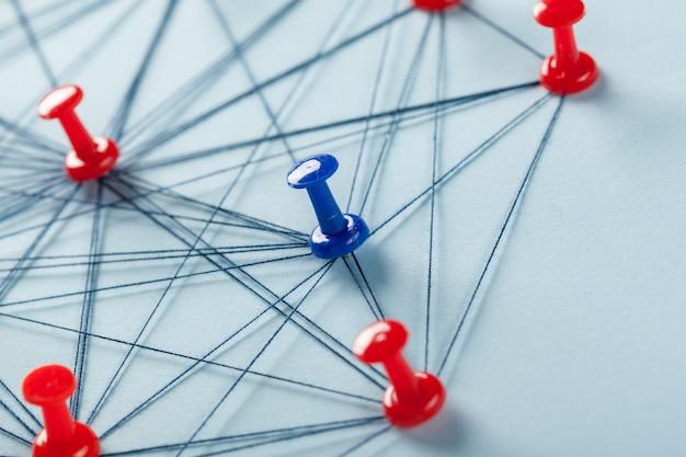ピン付きネットワーク