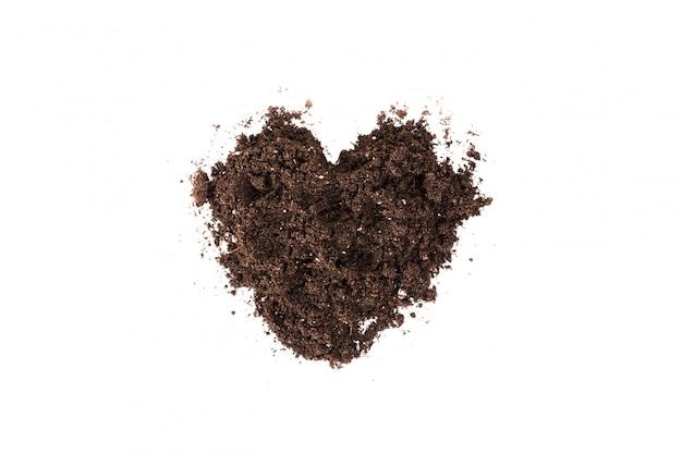 分離された土壌または汚れのセクション