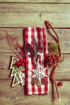 Сервировка стола рождество