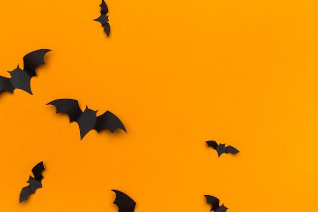 Хэллоуин украшение с летающими бумажными летучими мышами