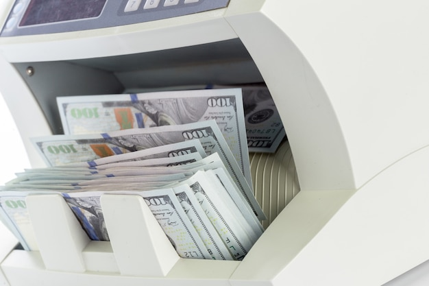 白で隔離お金カウンター