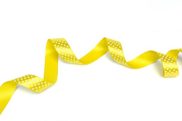 Желтые ленты изолированы