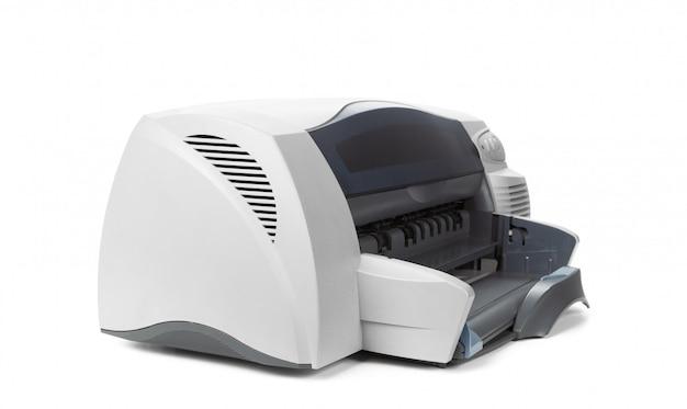 白い背景で隔離のレーザーホームプリンター
