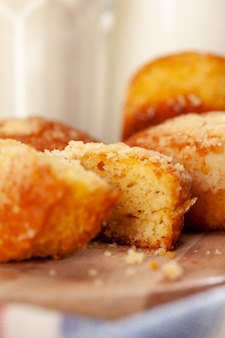 Домашнее овсяное печенье для закуски крупным планом
