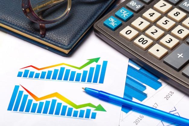 Бизнес-график, показывающий финансовый успех