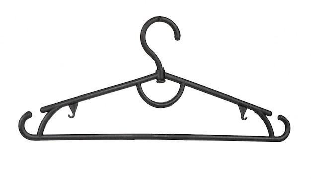 白い表面に分離された服木製ハンガー